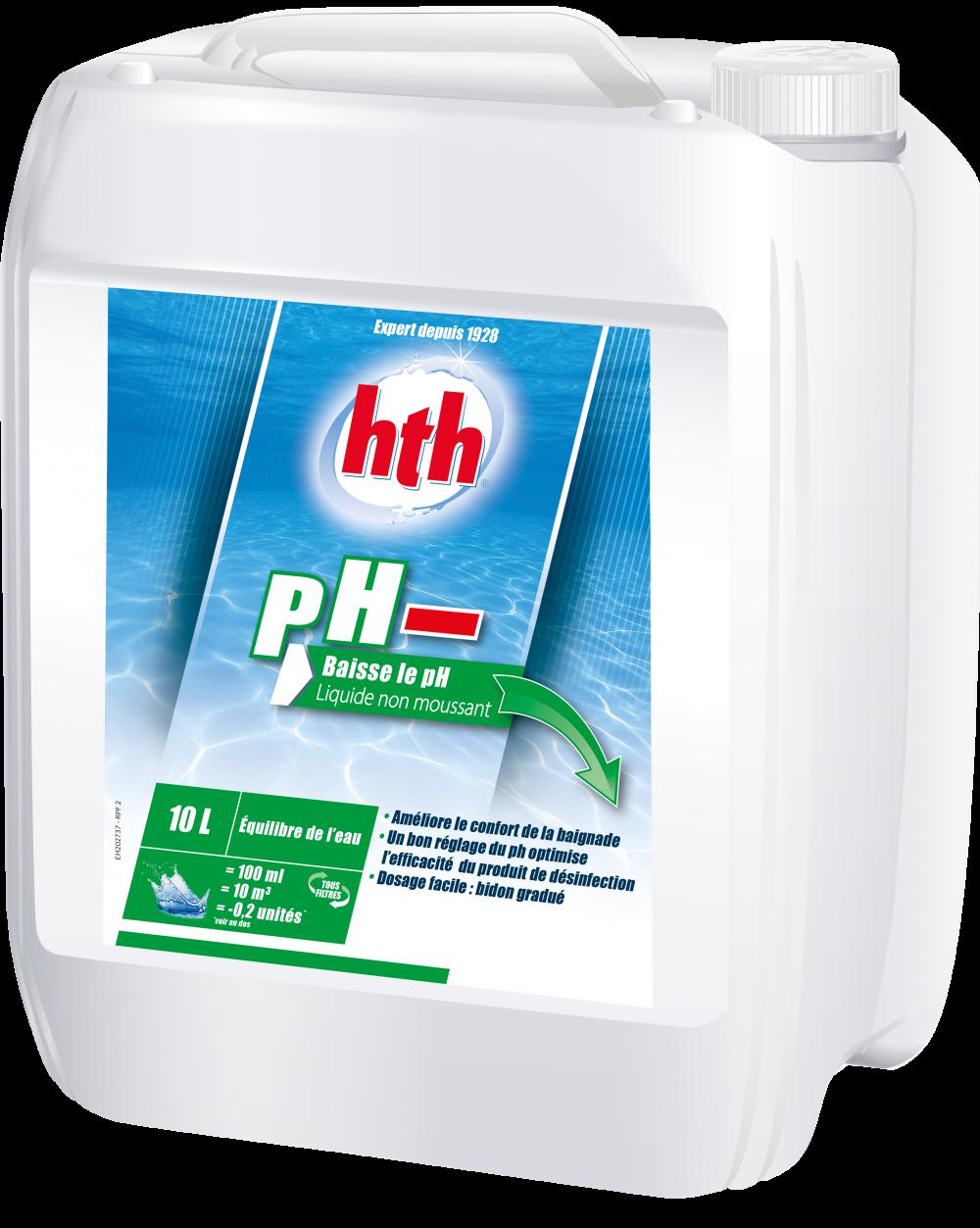 Hth ph moins liquide 35 for Clarifiant liquide piscine