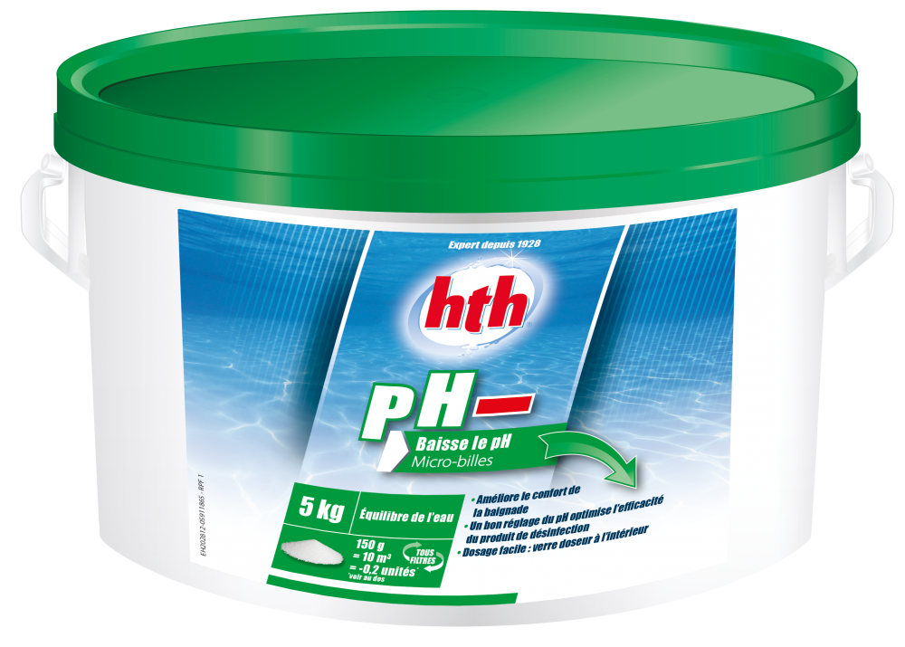 Hth ph moins micro billes for Algues piscine ph