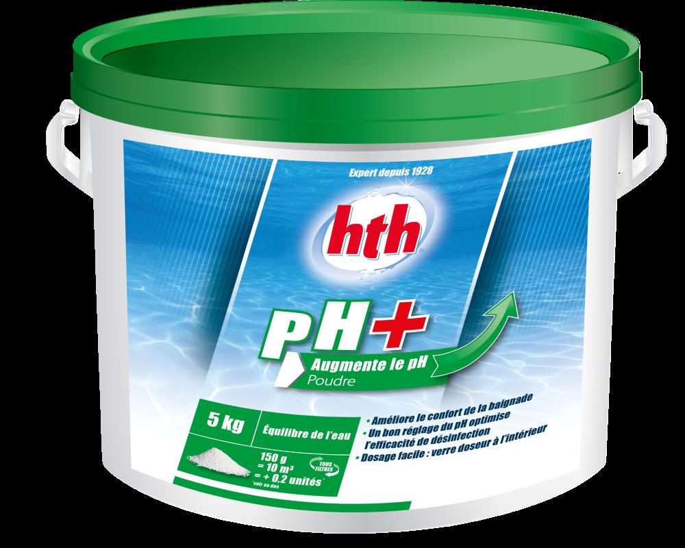 Hth ph plus poudre for Augmenter le ph piscine